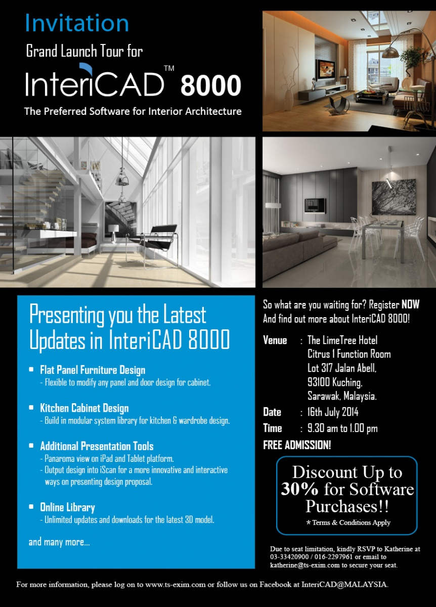 InteriCAD 8000 Grand Launch Tour - Sarawak
