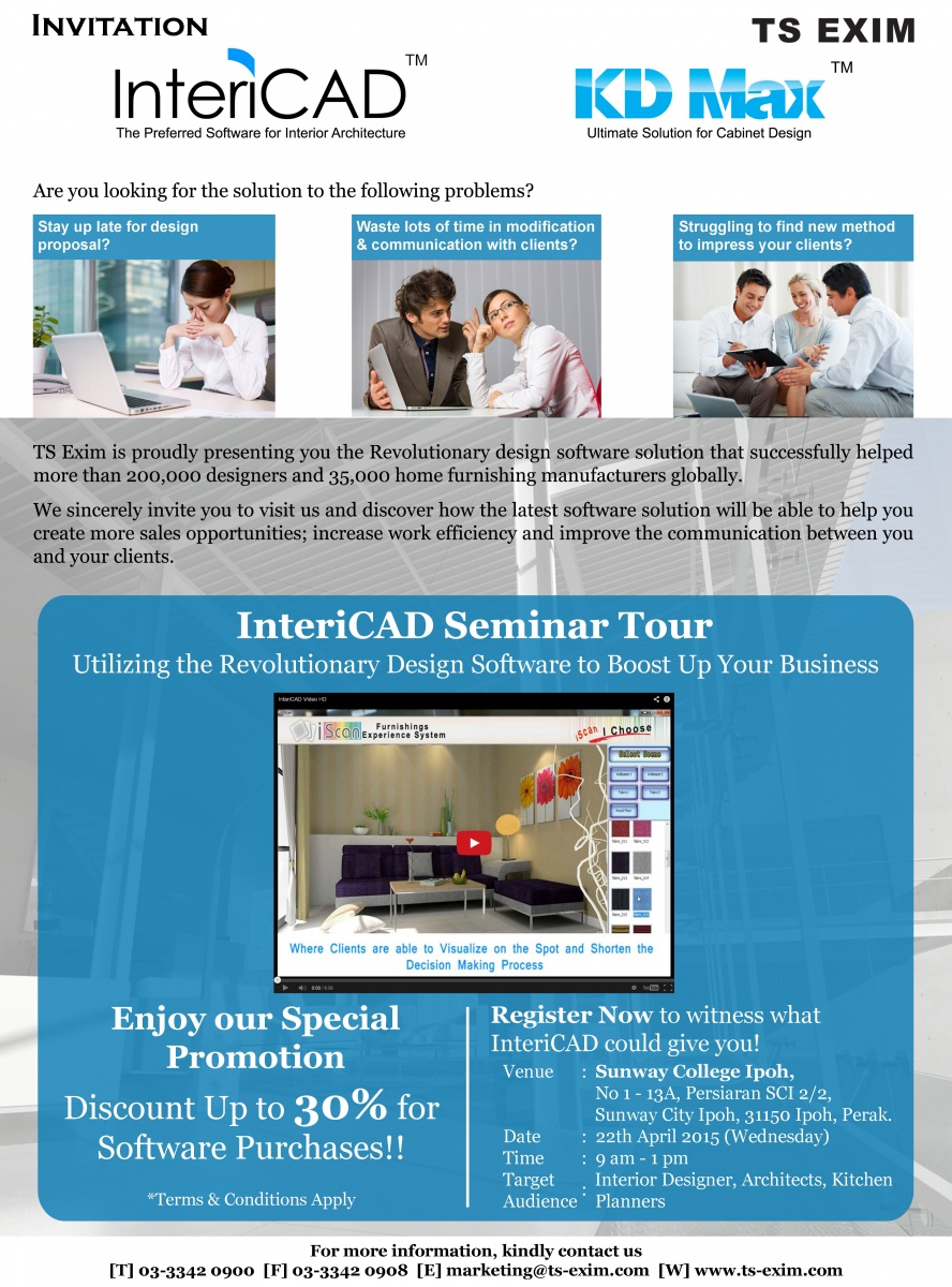 InteriCAD Seminar Tour 2015 - Ipoh Station